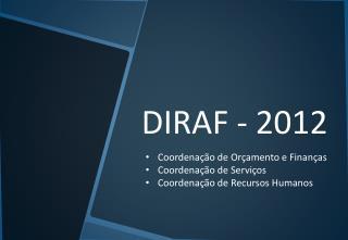 DIRAF - 2012