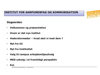 Institut for samfundsfag og kommunikation