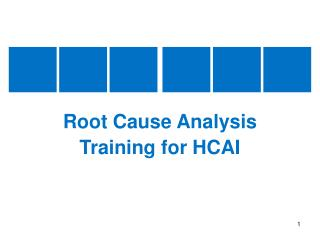Root Cause Analysis Training for HCAI