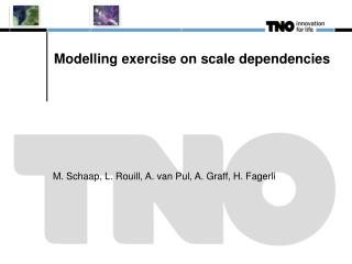 Modelling exercise on scale dependencies