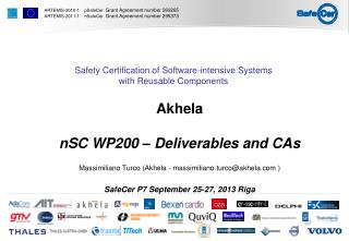 Akhela nSC  WP200 –  Deliverables and CAs