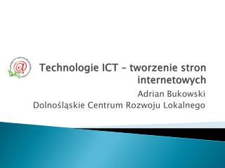 Technologie ICT – tworzenie stron internetowych