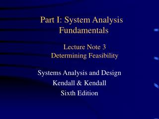 Lecture Note 3 Determining Feasibility