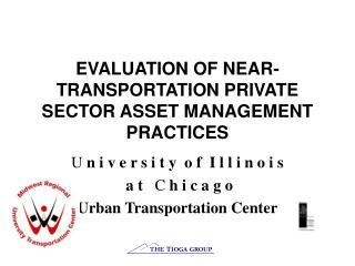 EVALUATION OF NEAR-TRANSPORTATION PRIVATE SECTOR ASSET MANAGEMENT PRACTICES