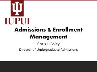 Admissions & Enrollment Management