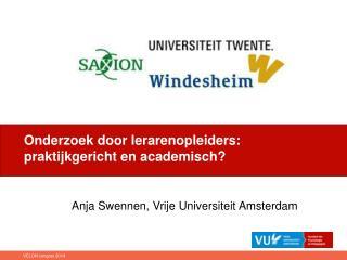 Anja Swennen, Vrije Universiteit Amsterdam