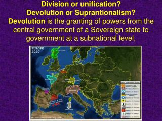Supranationalism  government beyond or above the state