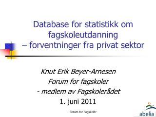 Database for statistikk om fagskoleutdanning  – forventninger fra privat sektor