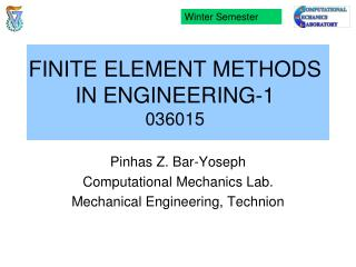 FINITE ELEMENT METHODS IN ENGINEERING-1 036015