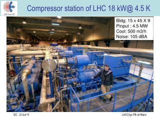 Compressor station of LHC 18 kW @ 4.5 K
