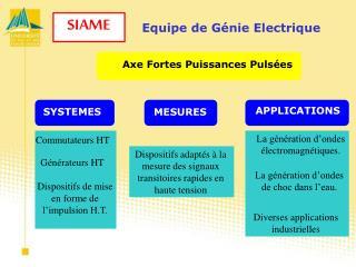 Equipe de Génie Electrique
