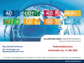 Podiumsdiskussion Universität Linz, 14. Mai 2003