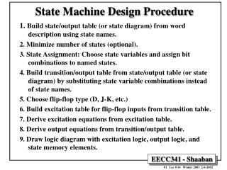 State Machine Design Procedure