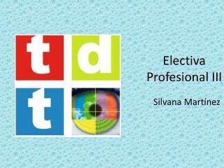 Electiva Profesional III