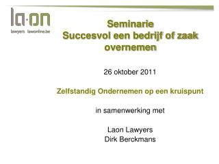 Seminarie Succesvol een bedrijf of zaak overnemen