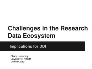 Challenges in the Research Data Ecosystem