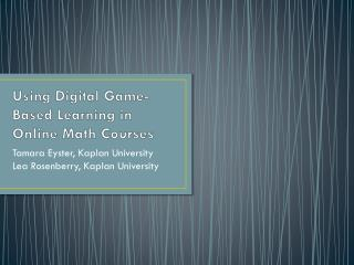 Using Digital Game-Based Learning in Online Math Courses