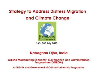 Strategy to Address Distress Migration and Climate Change