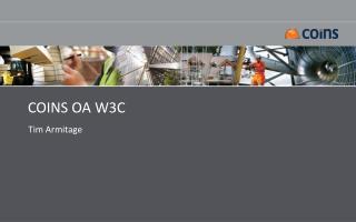 COINS OA W3C