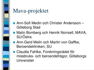 Mava-projektet
