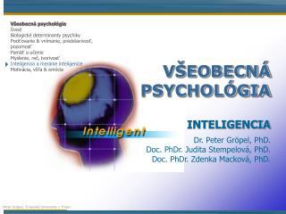 VŠEOBECNÁ PSYCHOLÓGIA