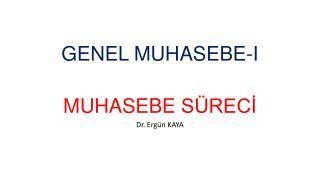 GENEL MUHASEBE-I