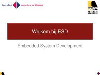 Welkom bij ESD