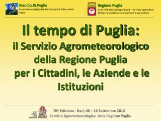 Il tempo di Puglia: il Servizio Agrometeorologico della Regione Puglia