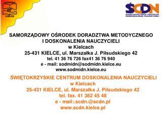 Konferencja metodyczna wrzesień/październik 2014