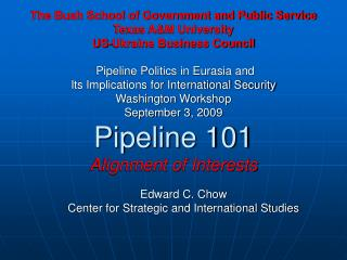 Edward C. Chow Center for Strategic and International Studies