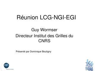 R�union LCG-NGI-EGI