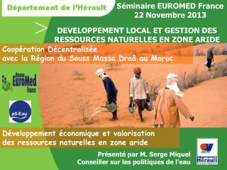 S�minaire EUROMED France 22 Novembre 2013