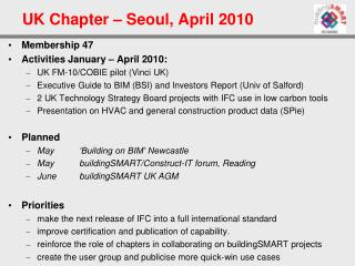 UK Chapter – Seoul, April 2010