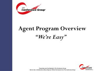 Agent Program Overview