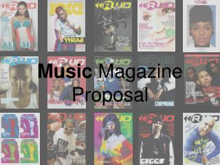 Music  Magazine Proposal