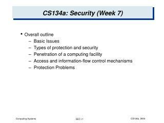CS134a: Security (Week 7)