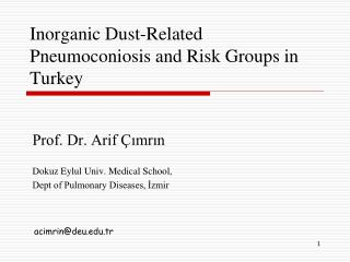 Inorganic Dust-Related Pneumoconiosis and Risk Groups in Turkey