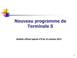 Nouveau programme de Terminale S