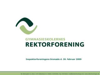 Inspektorforeningens �rsm�de d. 26. februar 2009