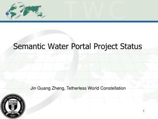 Semantic Water Portal Project Status