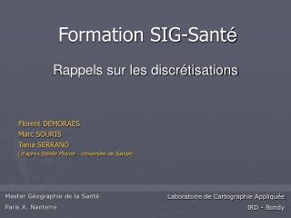 Master Géographie de la Santé Paris X. Nanterre