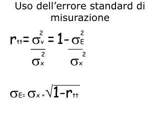 Uso dell'errore standard di misurazione