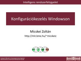 Konfigur�ci�kezel�s Windowson