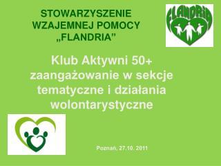 Klub Aktywni 50+ zaangażowanie w sekcje tematyczne i działania wolontarystyczne