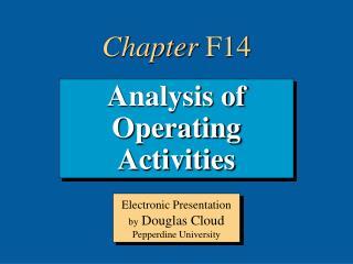 Analysis of Operating Activities