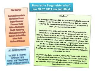 Bayerische Bergmeisterschaft am 28.07.2013 am Sudelfeld