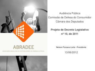 Nelson Fonseca Leite - Presidente 13/06/2012
