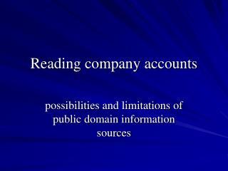 Reading company accounts