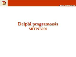 Delphi programoz�s SRTNB020