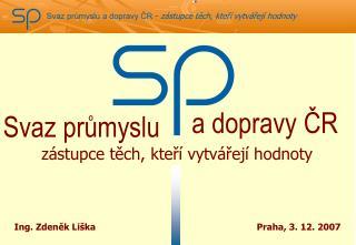 a dopravy ČR